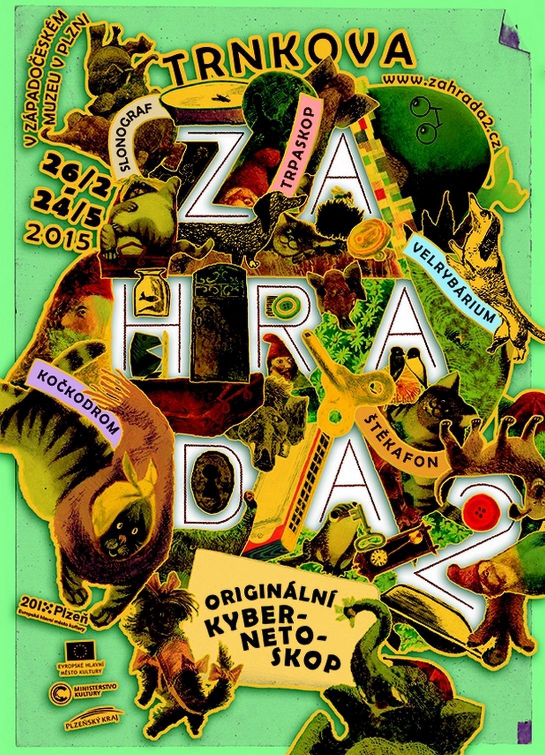 Plakát k výstavě Zahrada 2