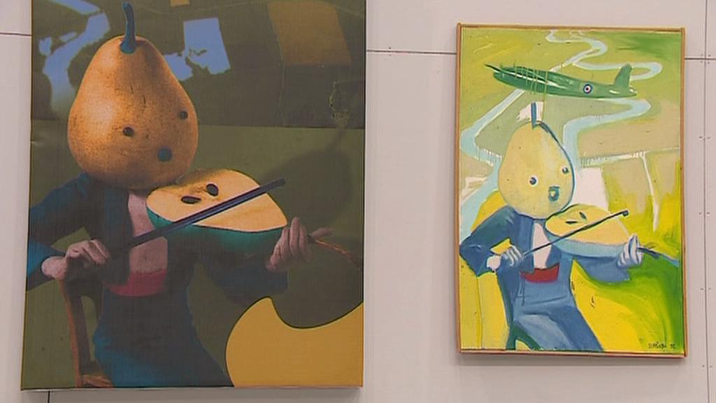 Z výstavy Česká malba generace 90. let 20. století