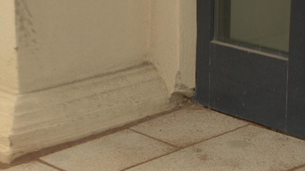 Poškození u dveří