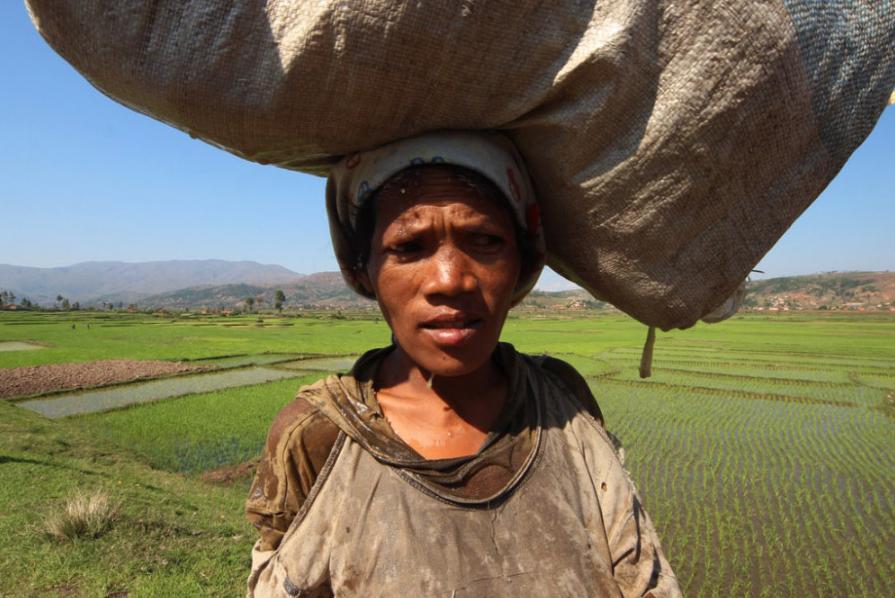 Domorodá obyvatelka Madagaskaru