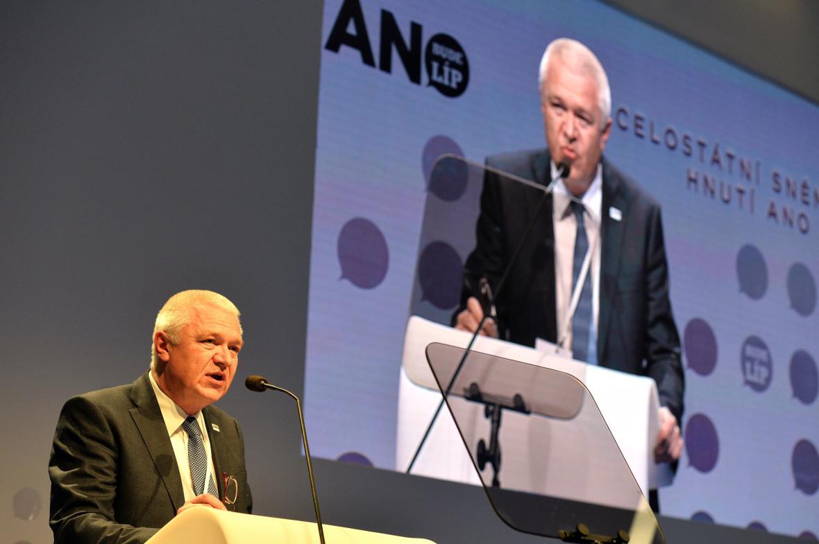 Jaroslav Faltýnek na sněmu ANO
