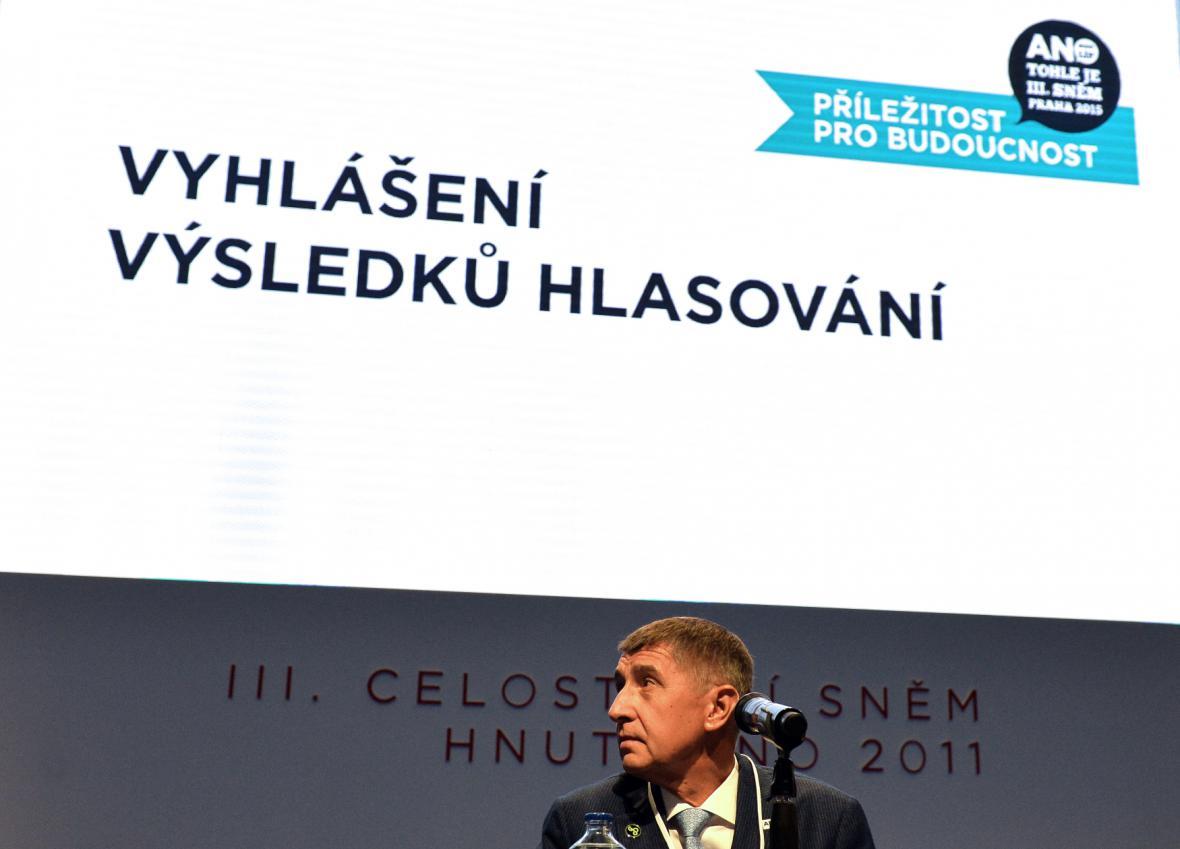 Andrej Babiš znovu zvolen předsedou ANO
