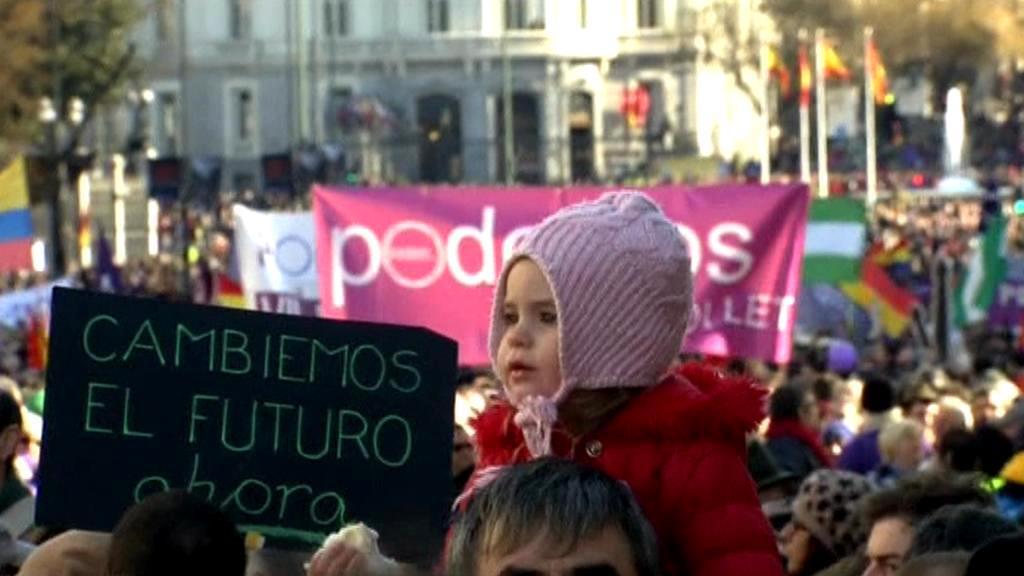 Demonstrace na podporu Podemos