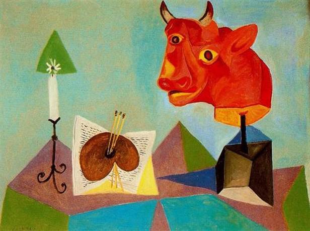 Pablo Picasso / Paleta a býčí hlava (1938)