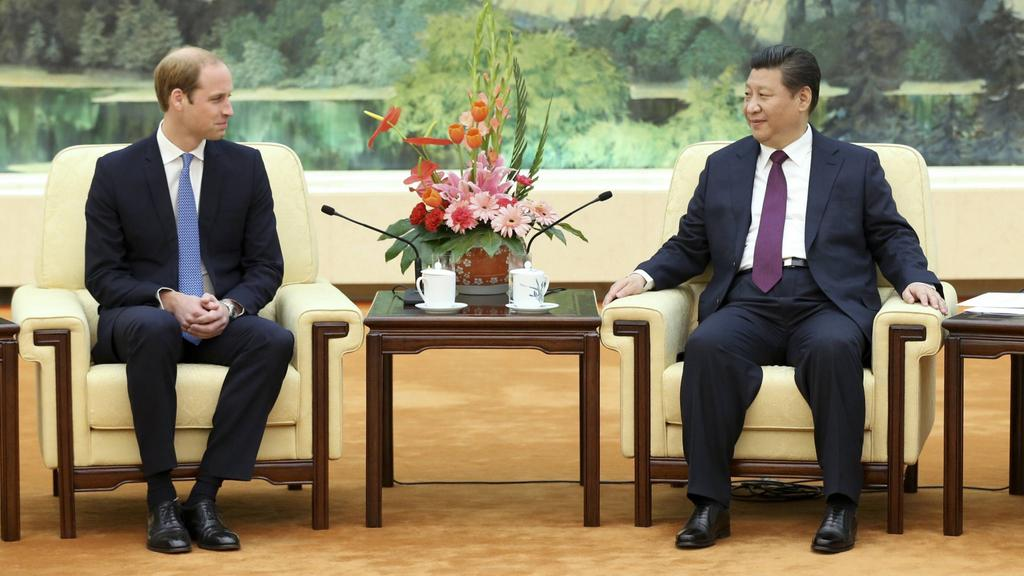 Britský princ s čínským prezidentem