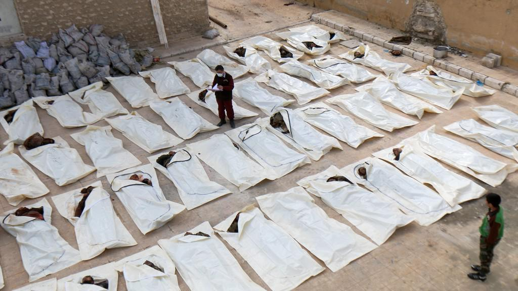 Oběti bojů u Aleppa