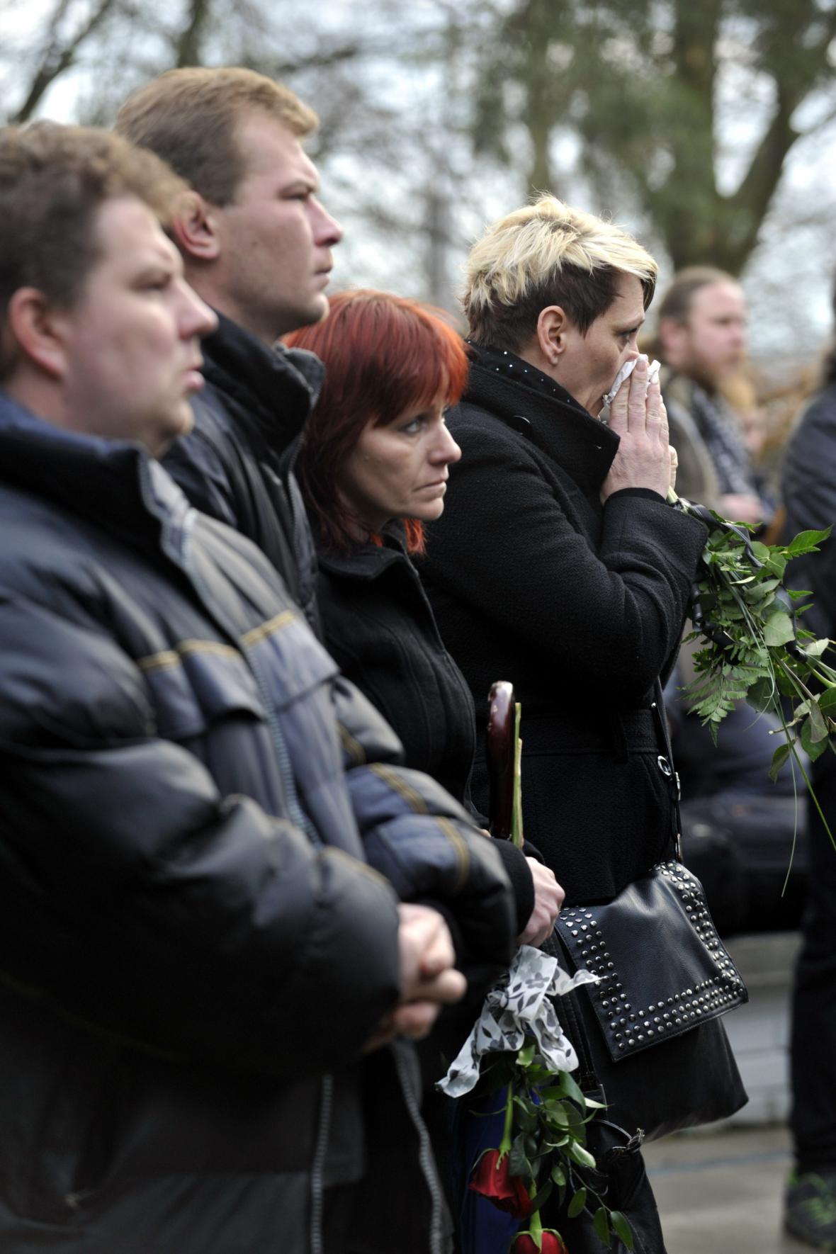 Pohřeb první z obětí útoku v Uherském Brodě