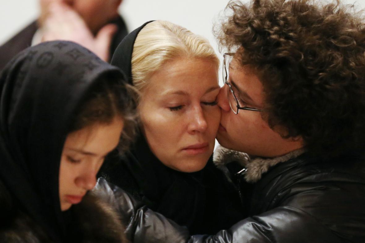 Němcovovy děti a exmanželka Jekatěrina Odincovová