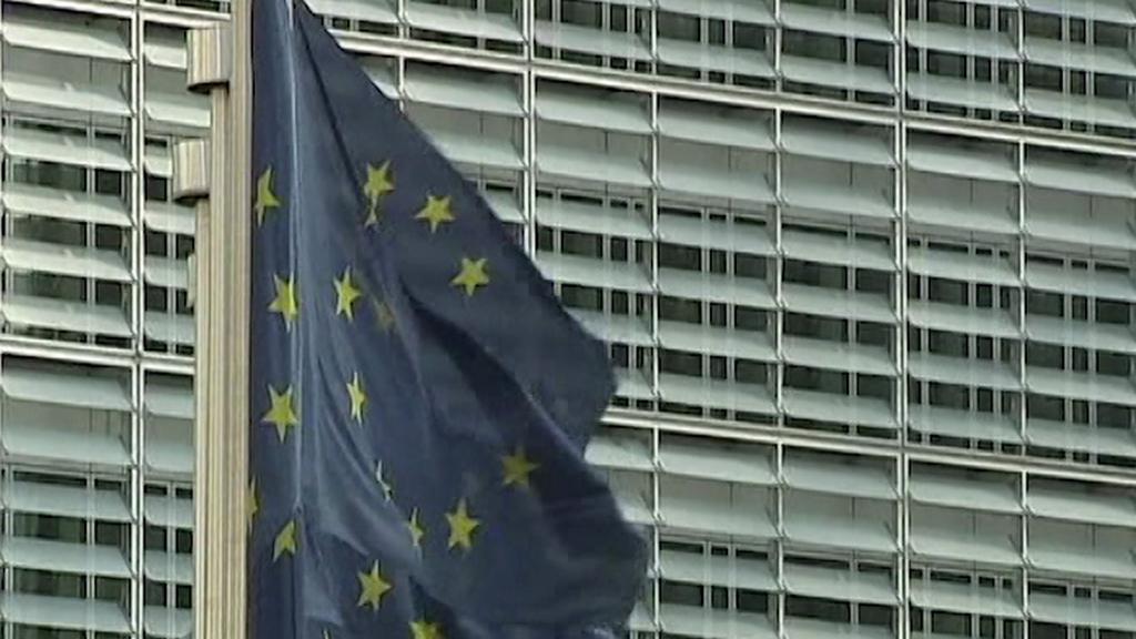 Vlajka EU v Bruselu