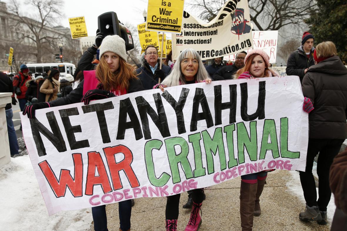 Protesty proti politice izraelského premiéra
