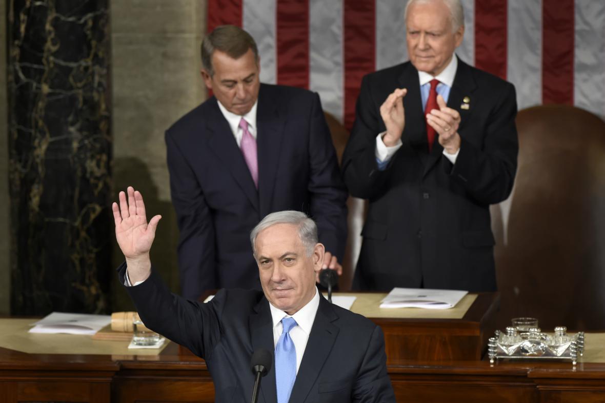 Netanjahu v Kongresu