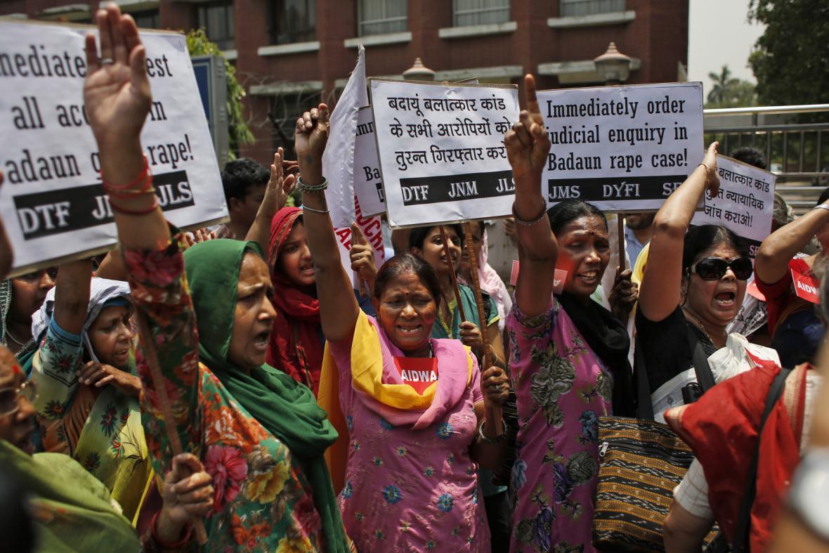 Protesty proti znásilňování žen v Indii