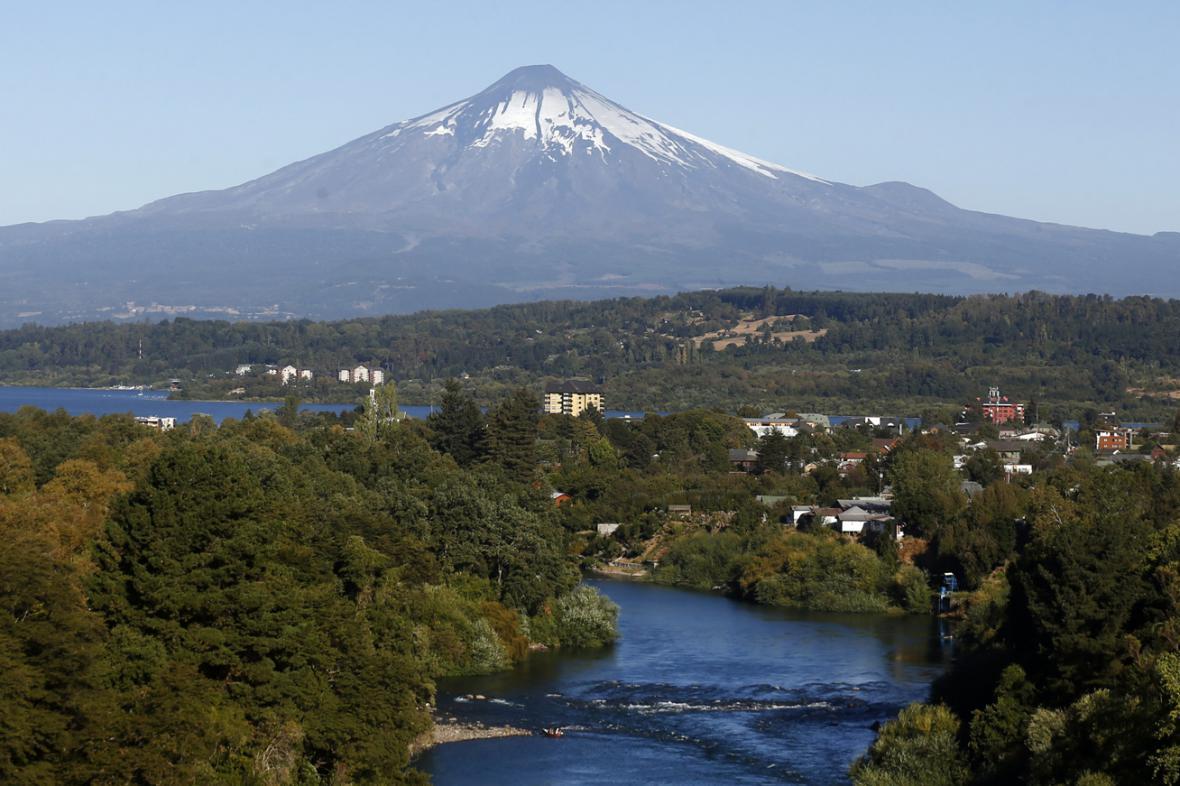 Chilská sopka Villarrica