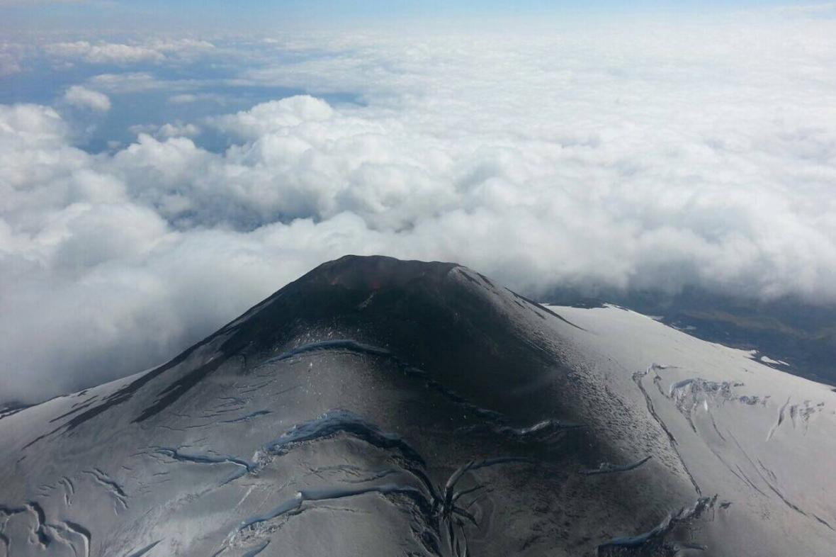 Následky erupce chilské sopky Villarrica