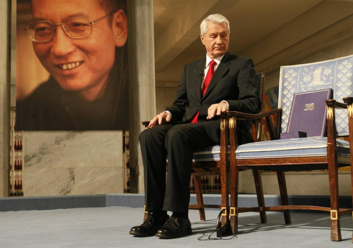 Thorbjörn Jagland oceňuje Liou Siao-pa Nobelovou cenou míru