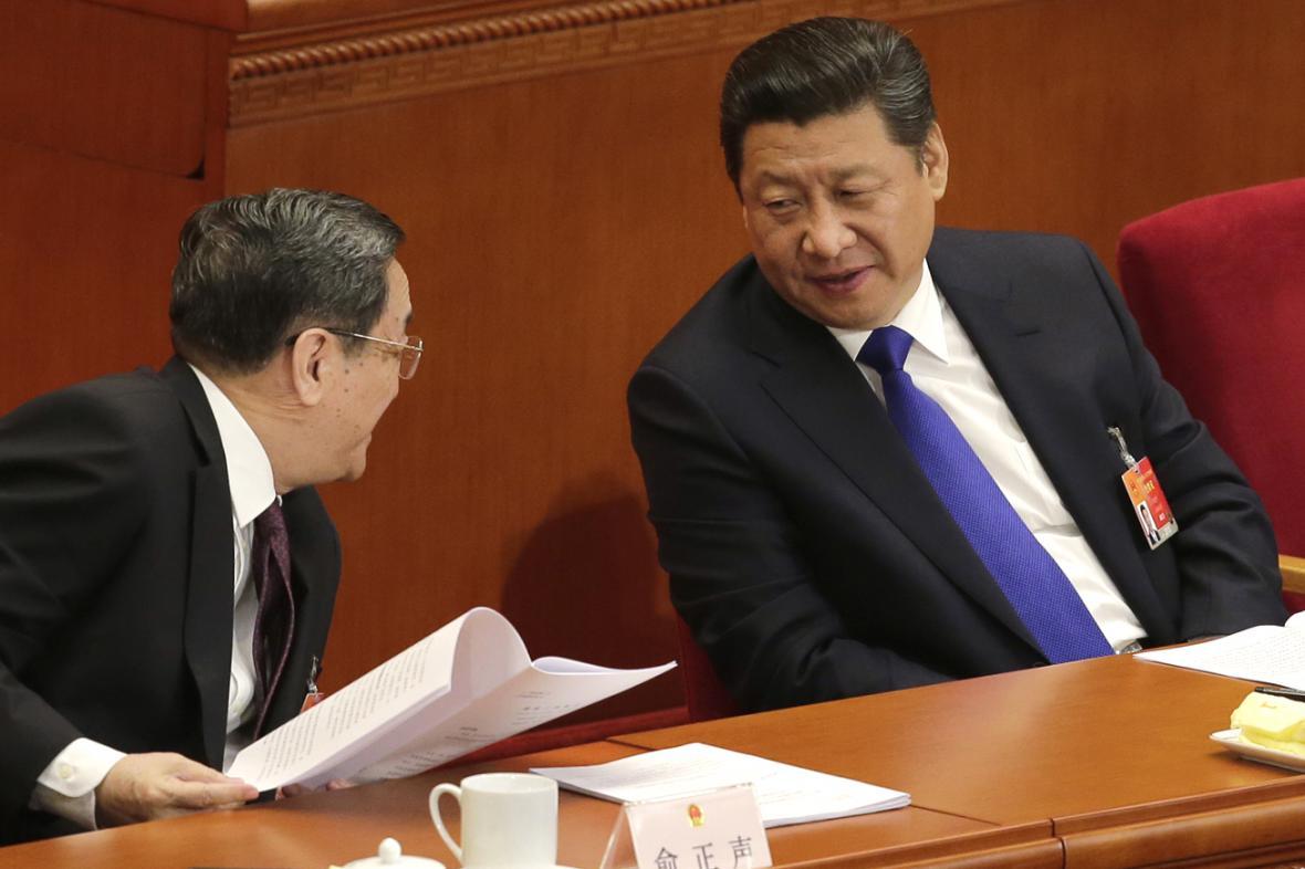 Prezident Si Ťin-Pching na výročním zasedání čínského parlamentu