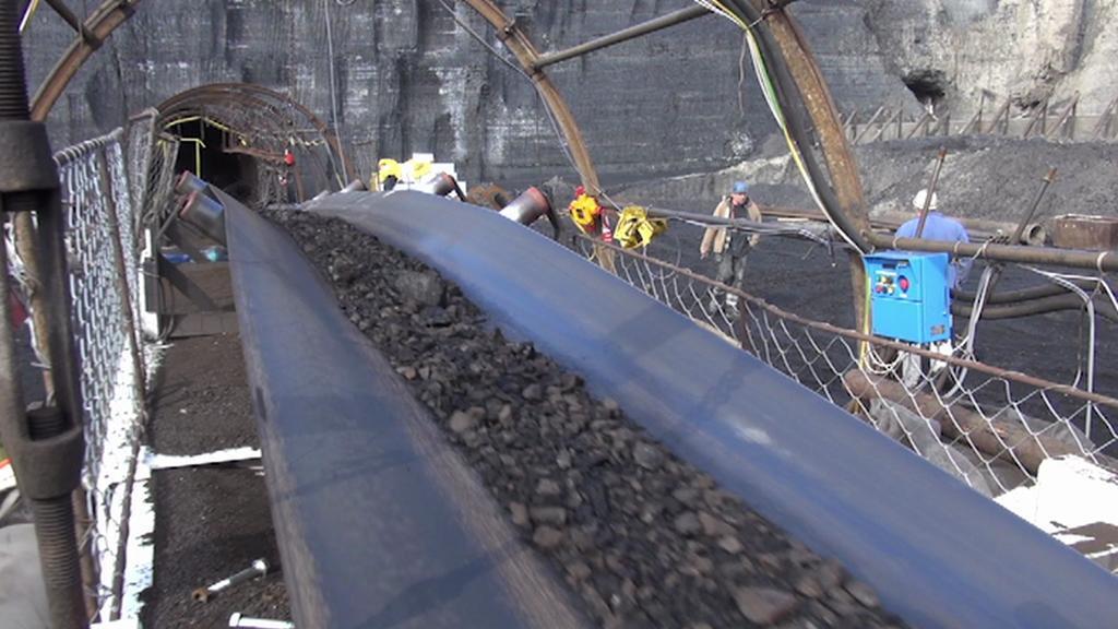 Uhlí vytěžené v chodbici