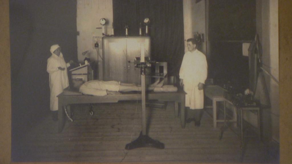 Archivní fotografie z lazaretu v Chrudimi