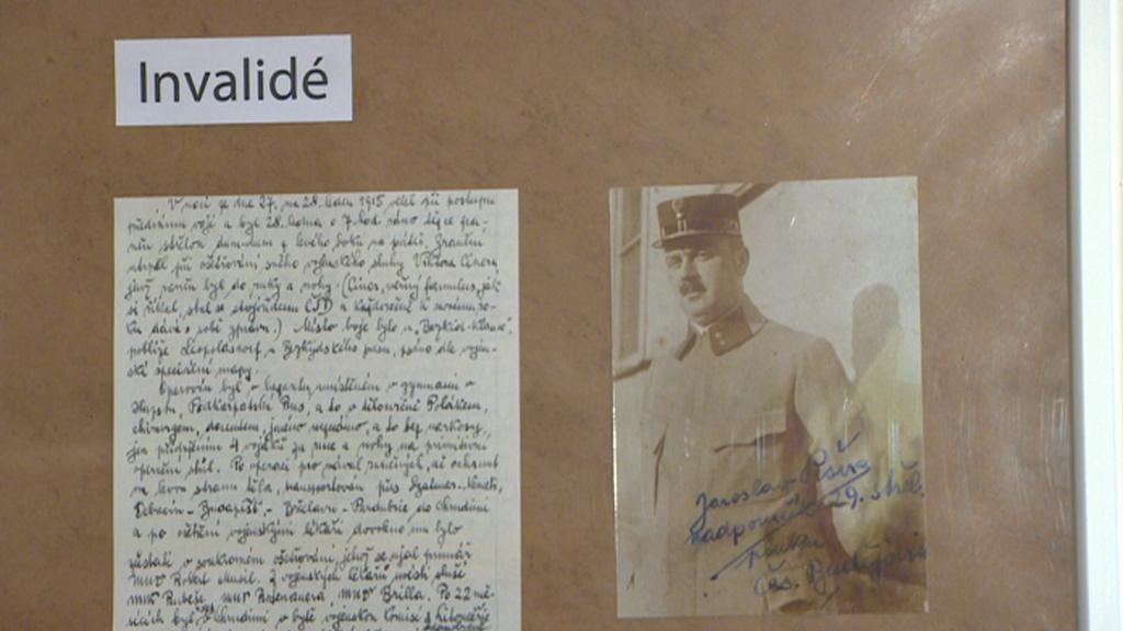 Válečný invalida Jaroslav Pešek - z výstavy v Chrudimi