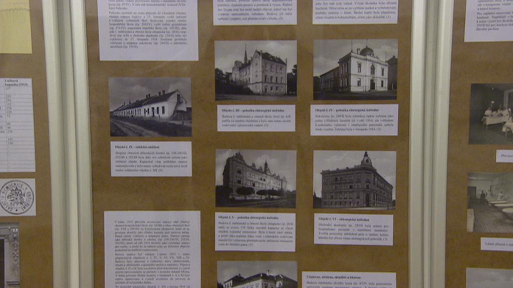 Fotografie budov, kde byly za války lazarety