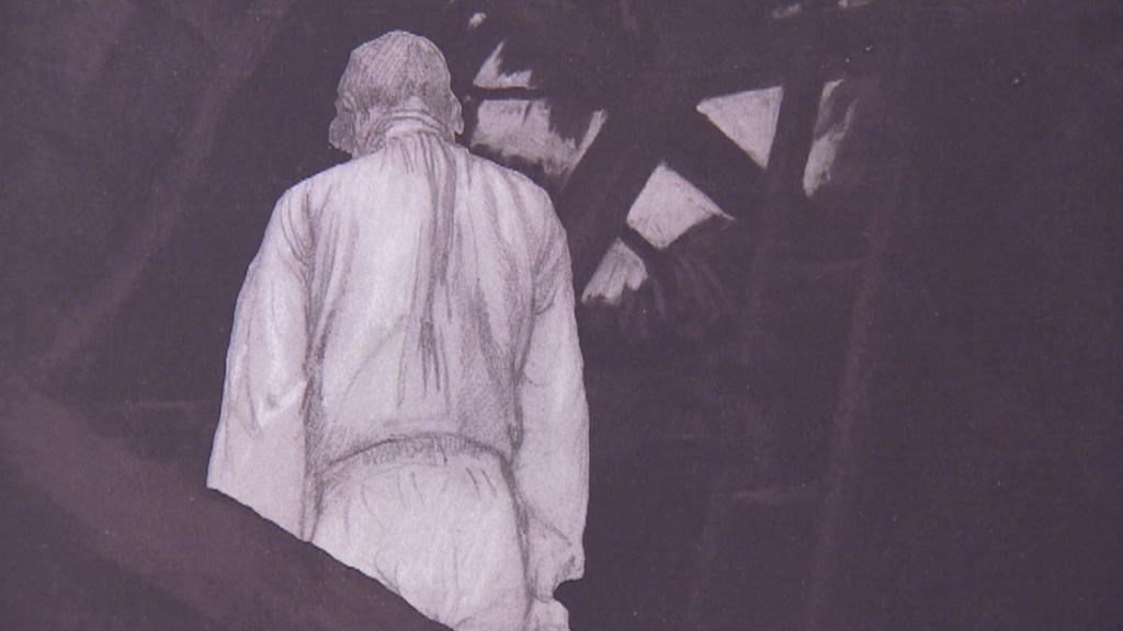 Detail obrazu z původní verze - oběšenec