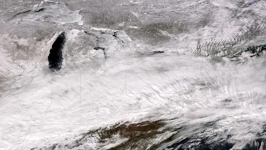Sněhové bouře v USA