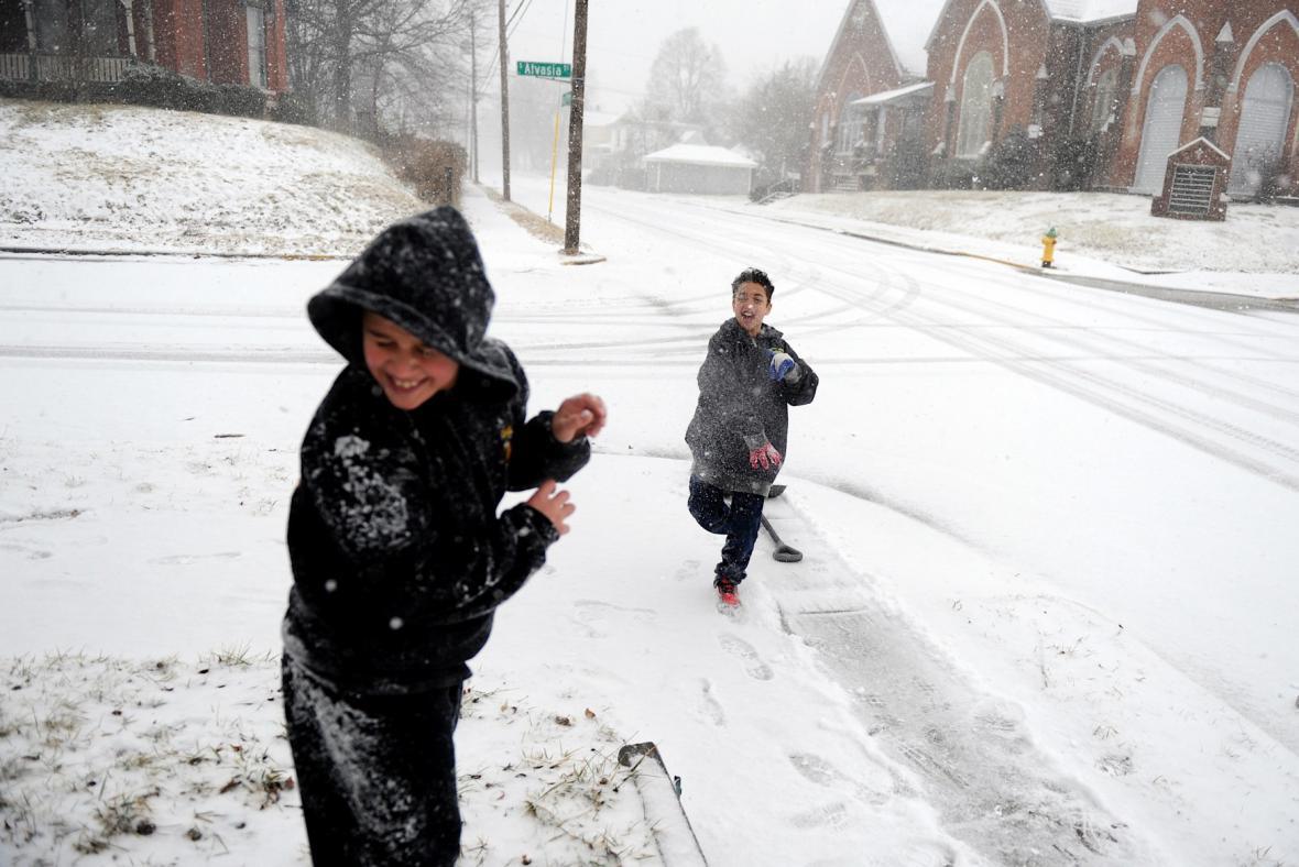 Sníh v USA
