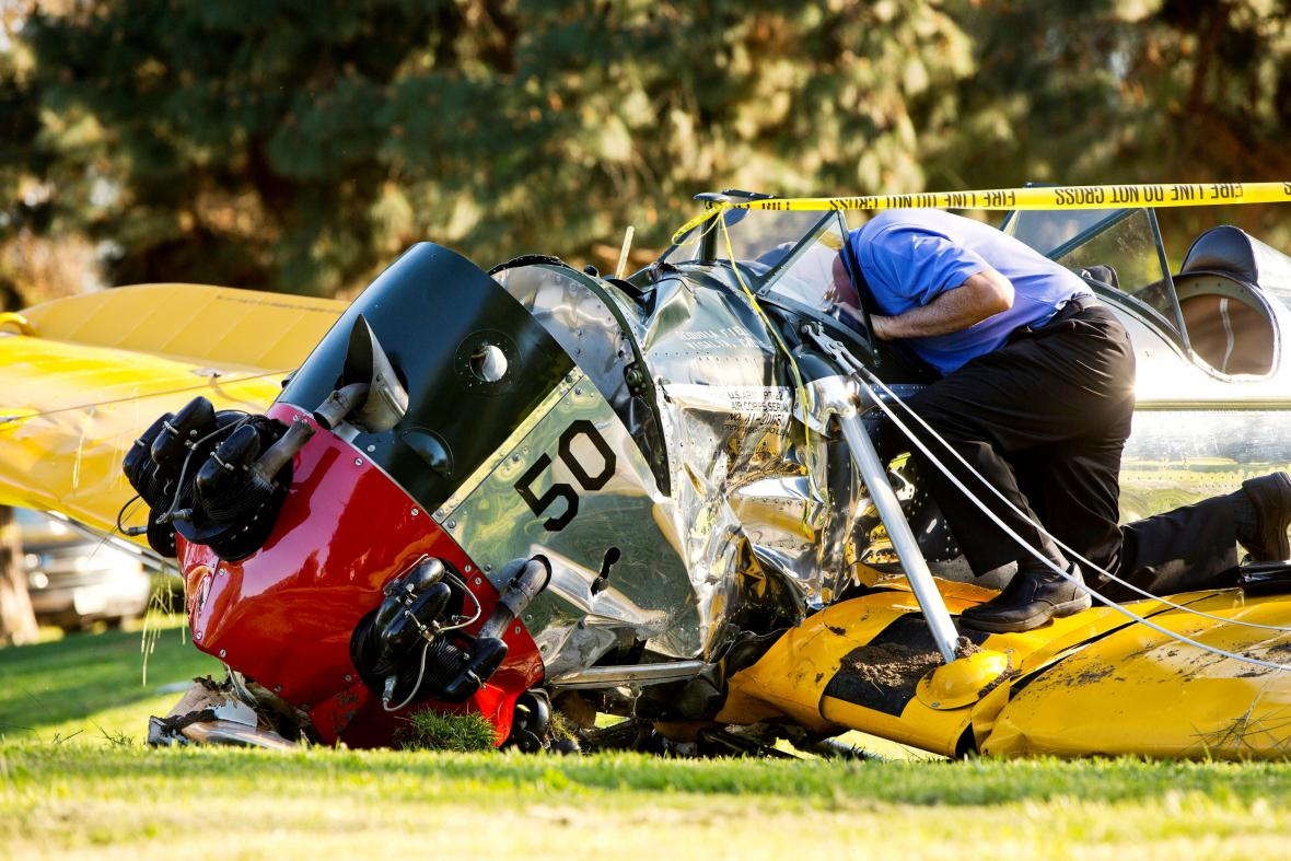 Zřícené letadlo Harrisona Forda