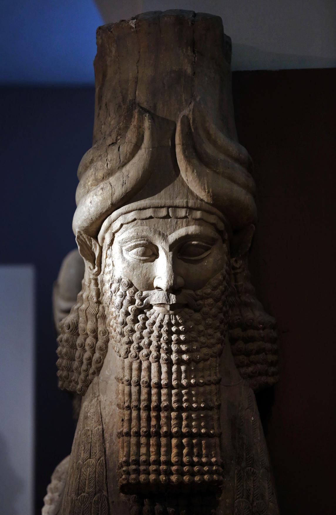 Asyrská socha v bagdádském muzeu