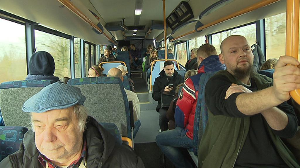 Cestující na trase Mělník - Praha