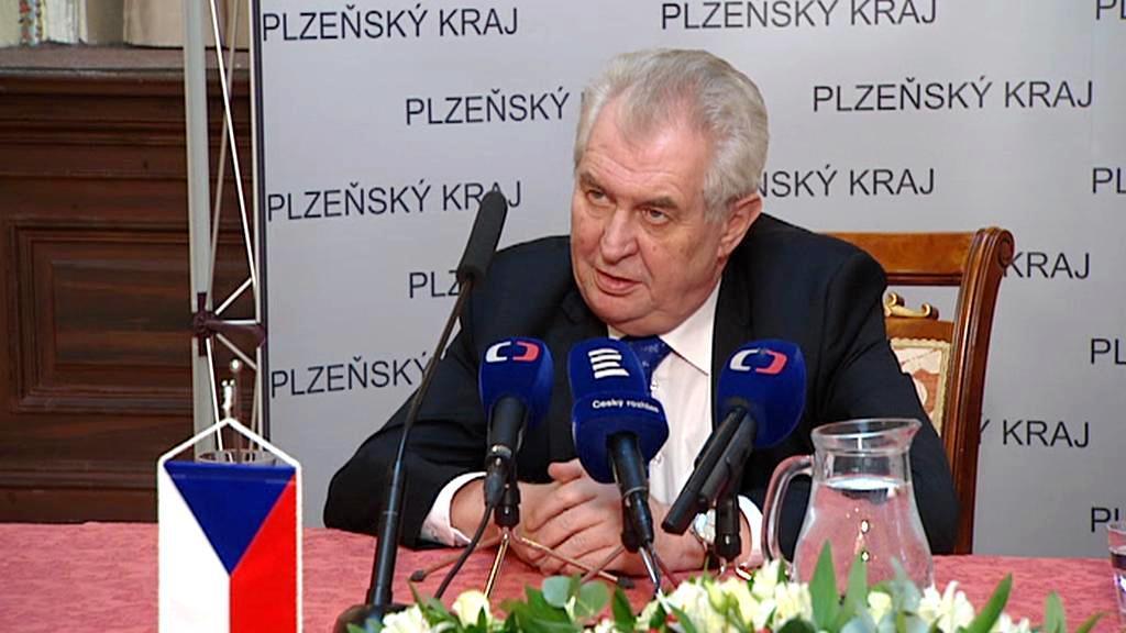 Miloš Zeman na návštěvě Plzeňského kraje