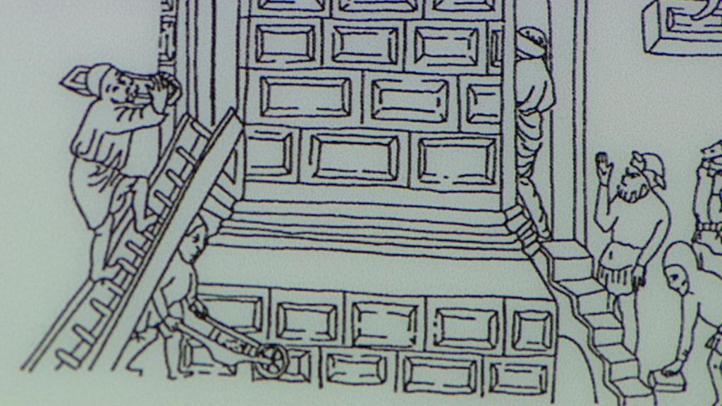 Stavba Jindřišské věže - dobové vyobrazení