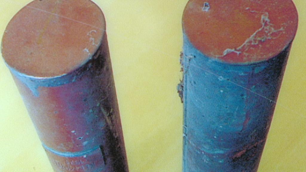 Tubusy nalezené při poslední rekonstrukci