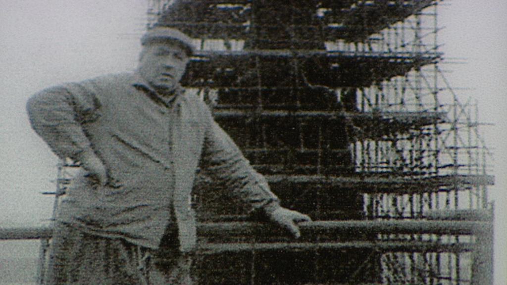 Archivní snímek z rekonstrukce zvonice