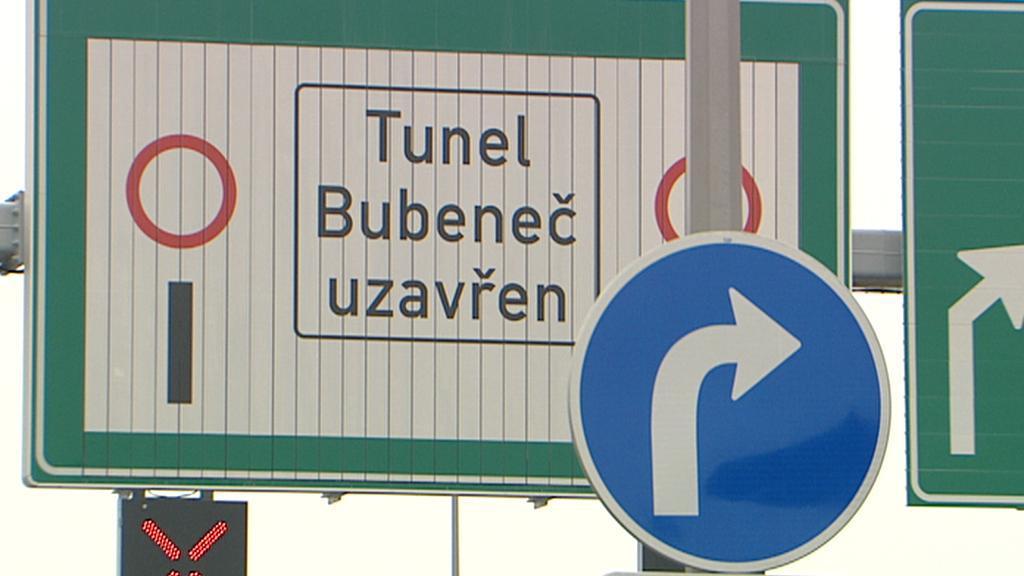 Tunel zůstává uzavřen
