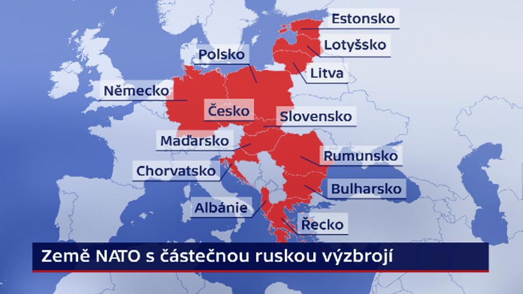Země NATO s částečnou ruskou výzbrojí