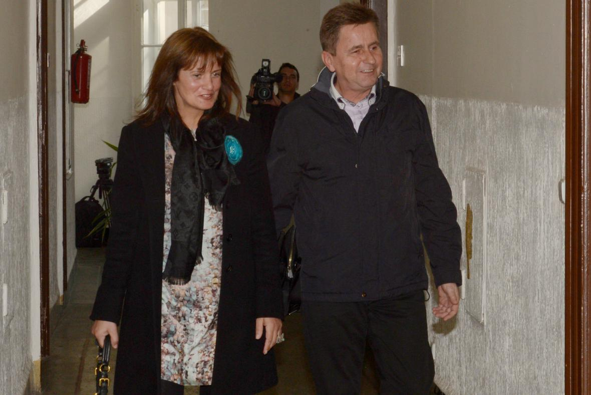 Alena Hegerová a Jiří Pertl
