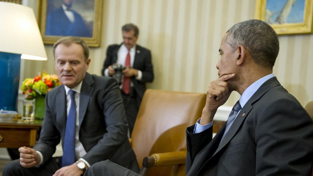 Donald Tusk s Barackem Obamou