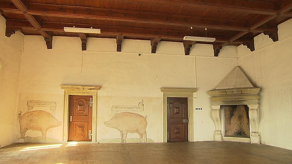 Rytířský sál na zámku v Přerově nad Labem
