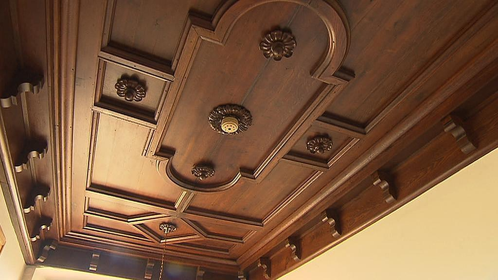 Dřevěný strop na zámku v Přerově nad Labem