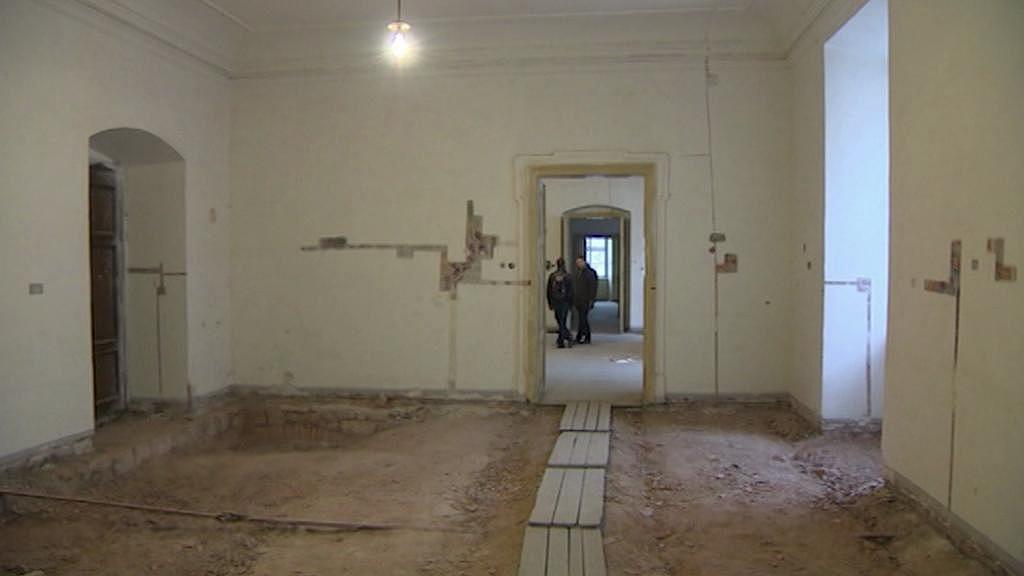 Interiér broumovského kláštera - archivní záběr ze zimy 2013