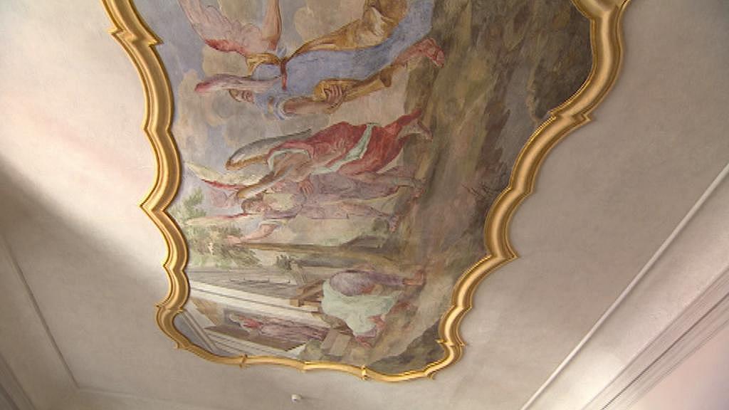 Strop v broumovském klášteře