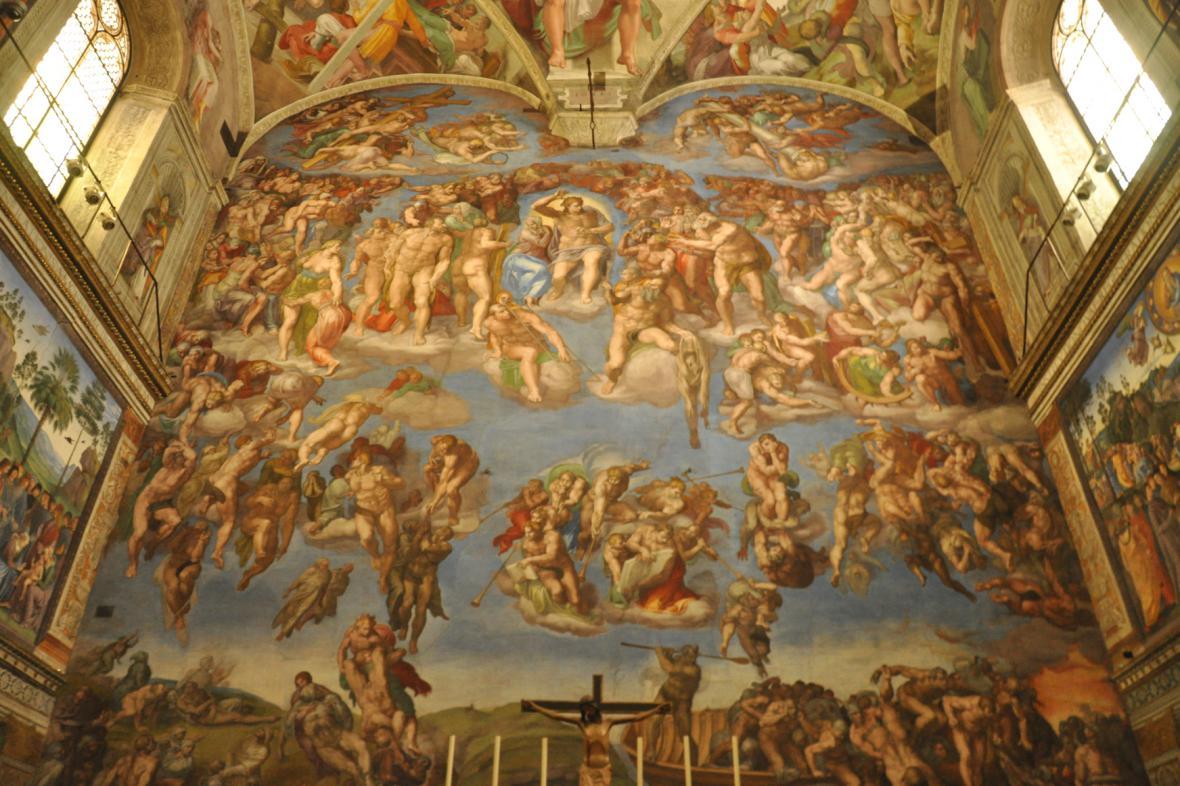 Poslední soud v Sixtinské kapli