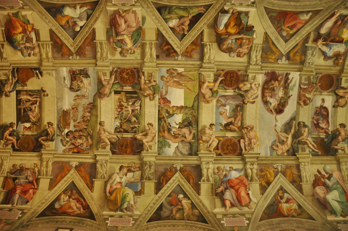 Stvoření světa na stropě Sixtinské kaple
