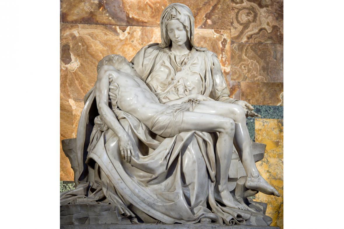 Michelangelova Pieta ve svatopetrské bazilice
