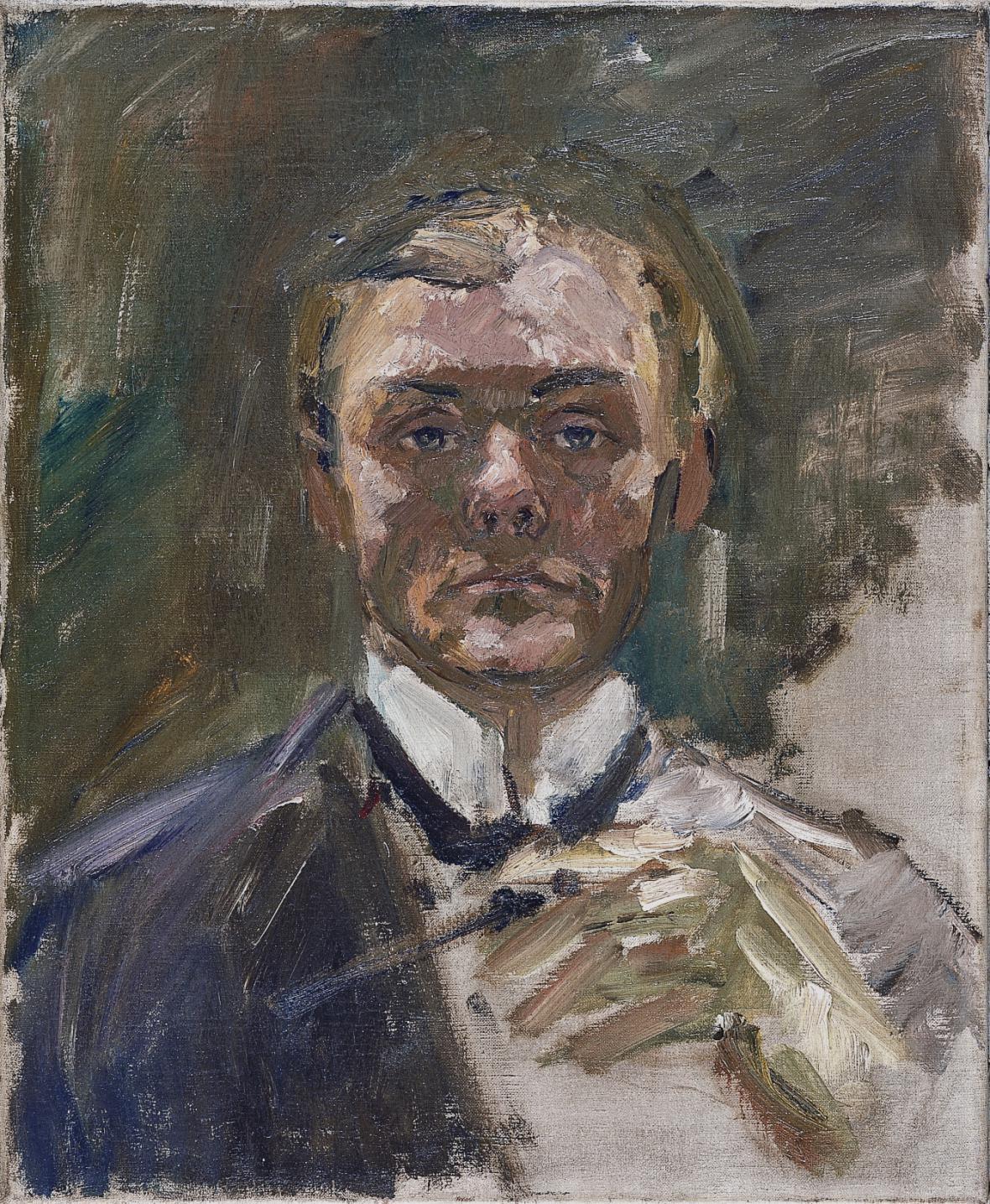 Autoportrét Maxe Beckmanna (1908)