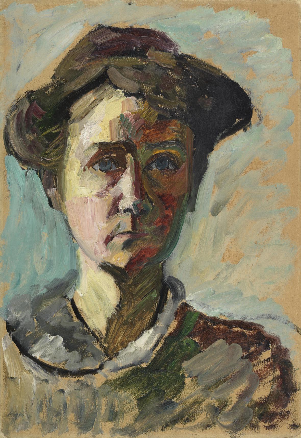 Autoportrét Gabriele Münterové (1908)