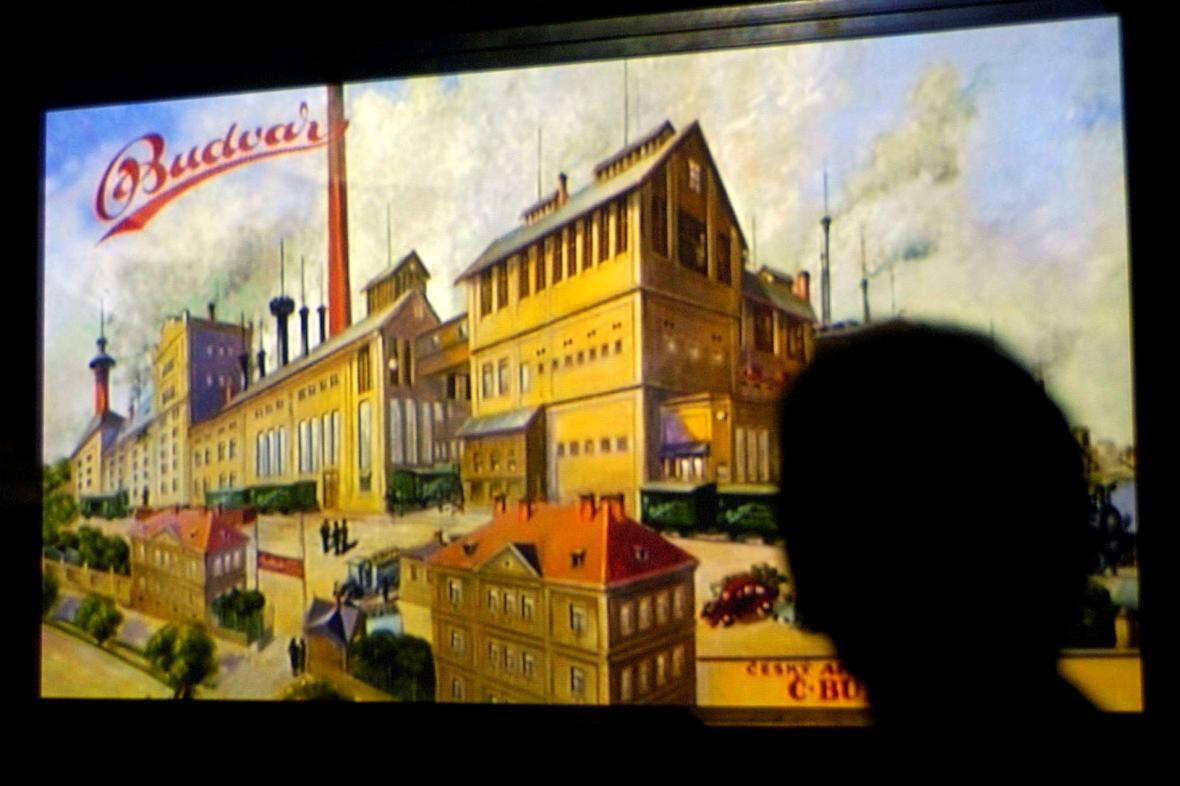 Dobové zobrazení českobudějovického pivovaru Budvar