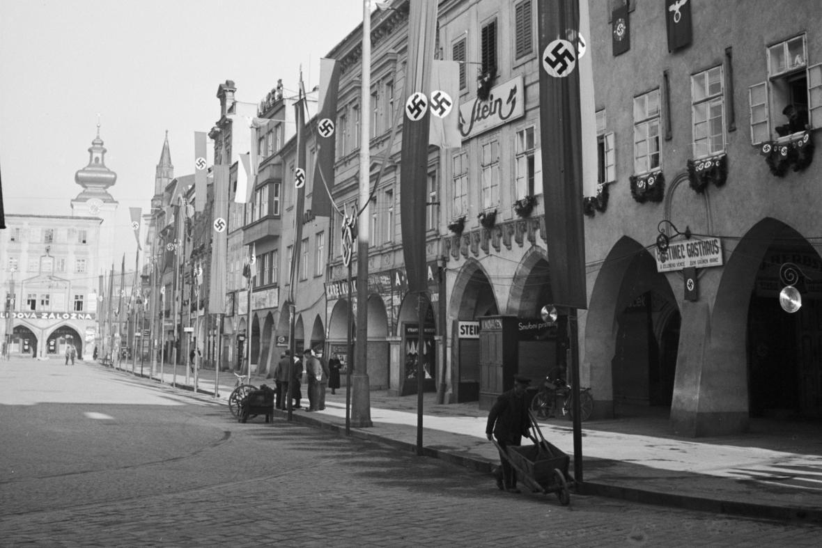 České Budějovice na konci 30. let