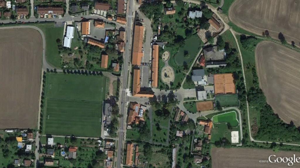Městská část Březiněves (pohled shora)